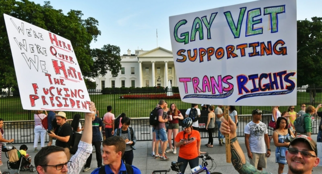 President Trump's opposition to trans people serving in the military has sparked protests