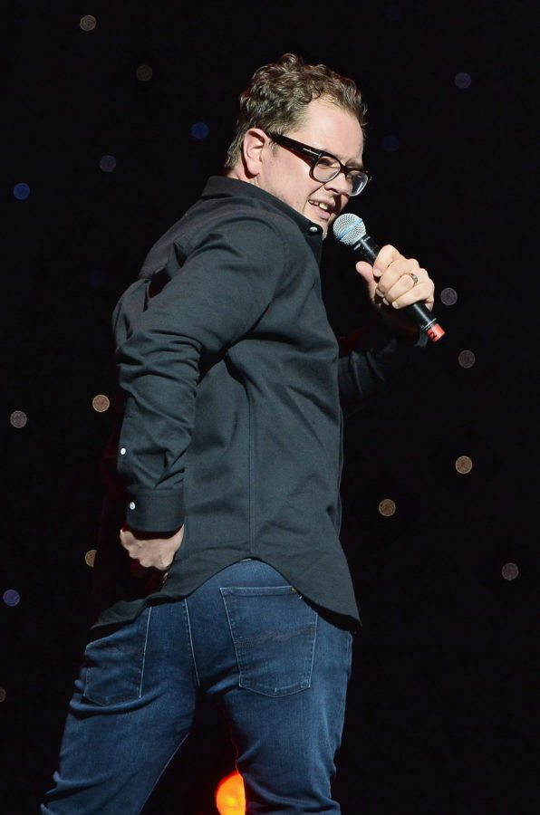 LONDON, ENGLAND - NOVEMBER 26:  Alan Carr performs at Absolute Radio Live in aid of Stand Up To Cancer at London Palladium on November 26, 2017 in London, England.  (Photo by Jeff Spicer/Getty Images)