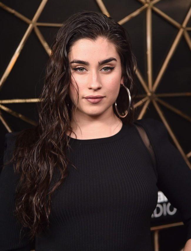 INGLEWOOD, CA - DECEMBER 01:  (EDITORIAL USE ONLY. NO COMMERCIAL USE) Lauren Jauregui of Fifth Harmony poses in the press room during 102.7 KIIS FM's Jingle Ball 2017 presented by Capital One at The Forum on December 1, 2017 in Inglewood, California.  (Photo by Alberto E. Rodriguez/Getty Images for iHeartMedia)