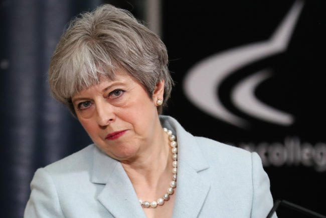 British Prime Minister Theresa May (Photo by Christopher Furlong - WPA Pool/Getty Images)