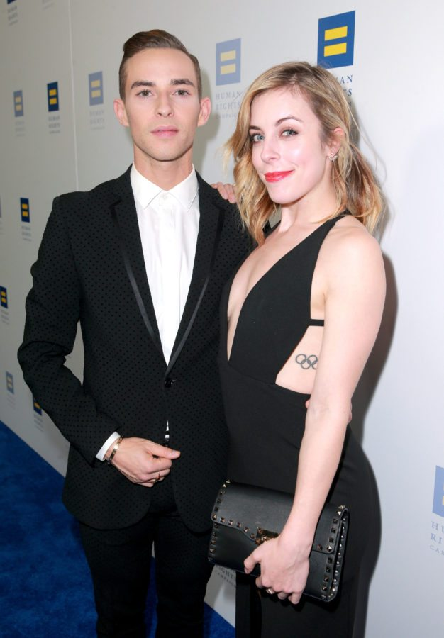 LOS ANGELES, CA - MARCH 10:  Honoree Adam Rippon (L) and Ashley Wagner attend The Human Rights Campaign 2018 Los Angeles Gala Dinner at JW Marriott Los Angeles at L.A. LIVE on March 10, 2018 in Los Angeles, California.  (Photo by Rich Fury/Getty Images for Human Rights Campaign (HRC))