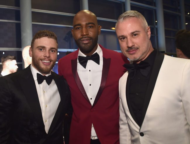 LOS ANGELES, CA - MARCH 10: Gus Kenworthy (L) and Karamo Brown (C) attend The Human Rights Campaign 2018 Los Angeles Gala Dinner at JW Marriott Los Angeles at L.A. LIVE on March 10, 2018 in Los Angeles, California. (Photo by Alberto E. Rodriguez/Getty Images for Human Rights Campaign (HRC) )