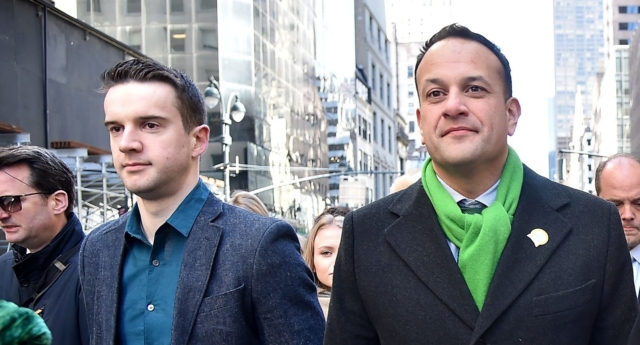 Prime Minister of Ireland Leo Varadkar attends the 2018 New York City St. Patrick's Day Parade on March 17, 2018 in New York City.  (Photo by Theo Wargo/Getty Images)