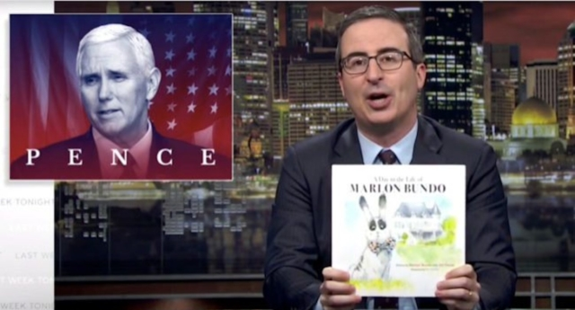 John Oliver's Book About Mike Pence's Gay Bunny Is a Hit