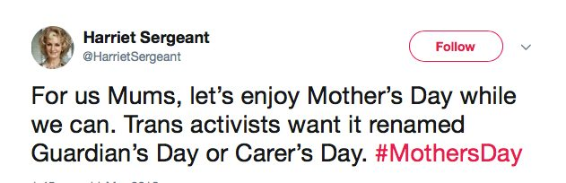 A supermarket is selling a gender-neutral Mother's Day card and people aren't happy