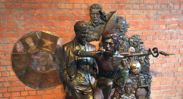 This is the world's first David Bowie statue