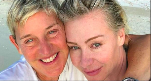 ellen degeneres and portia de rossi go make up free as they holiday