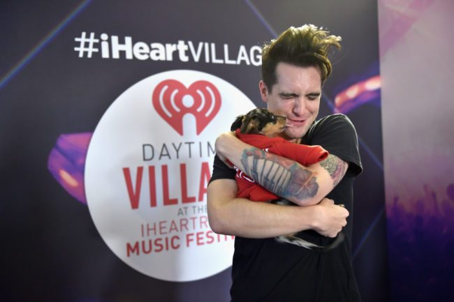 LAS VEGAS, NV - SEPTEMBER 24: Singer Brendon Urie of Panic! at the Disco attends the 2016 Daytime Village at the iHeartRadio Music Festival at the Las Vegas Village on September 24, 2016 in Las Vegas, Nevada. (Photo by David Becker/Getty Images for iHeartMedia)