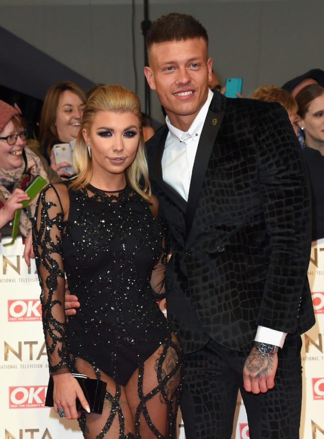 LONDON, ENGLAND - JANUARY 25: Olivia Buckland and Alex Bowen attends the National Television Awards on January 25, 2017 in London, United Kingdom. (Photo by Anthony Harvey/Getty Images)