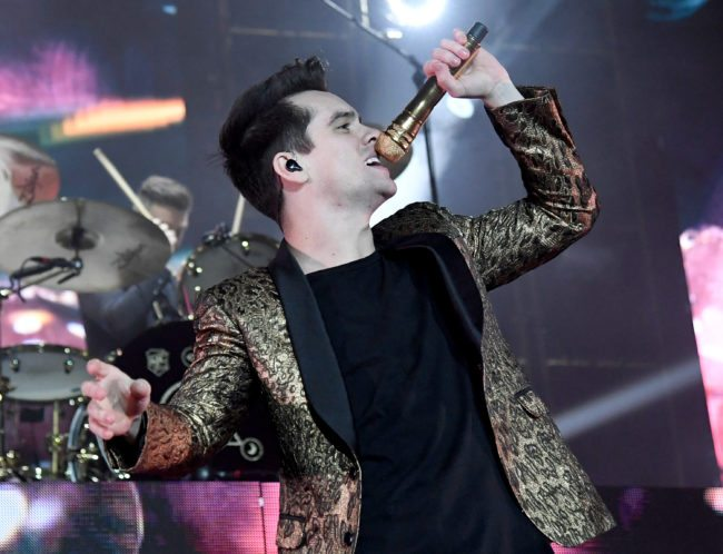 LAS VEGAS, NV - MARCH 24: Recording artist Brendon Urie of Panic! at the Disco performs at the Mandalay Bay Events Center on March 17, 2017 in Las Vegas, Nevada. (Photo by Ethan Miller/Getty Images)