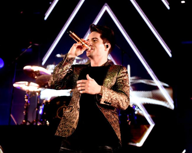 INGLEWOOD, CA - MARCH 28: Singer/songwriter Brendon Urie of Panic! At The Disco performs at The Forum on March 28, 2017 in Inglewood, California. (Photo by Kevin Winter/Getty Images)