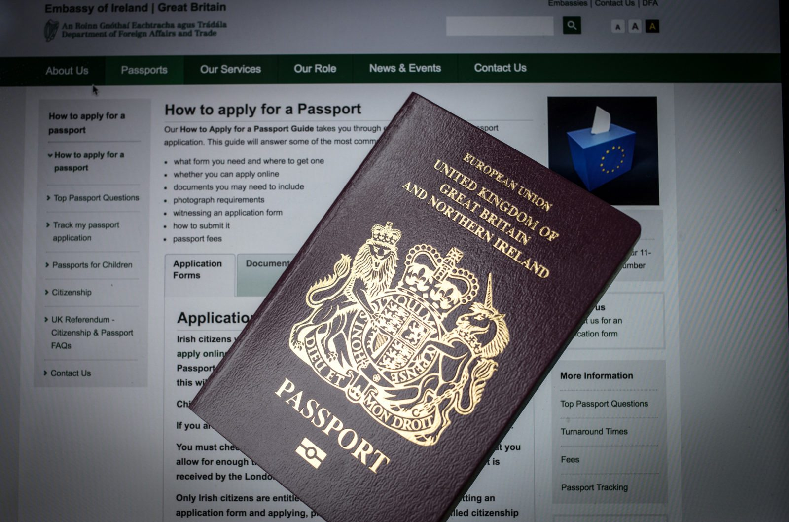 Can you take your own passport photo uk