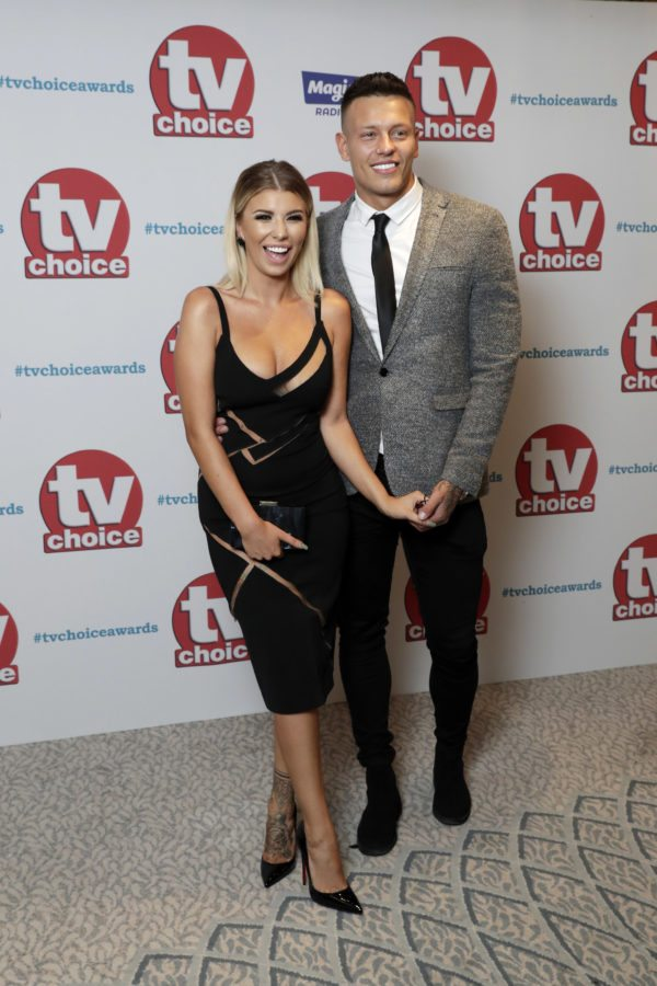 LONDON, ENGLAND - SEPTEMBER 04: Olivia Buckland and Alex Bowen arrive for the TV Choice Awards at The Dorchester on September 4, 2017 in London, England. (Photo by John Phillips/Getty Images)