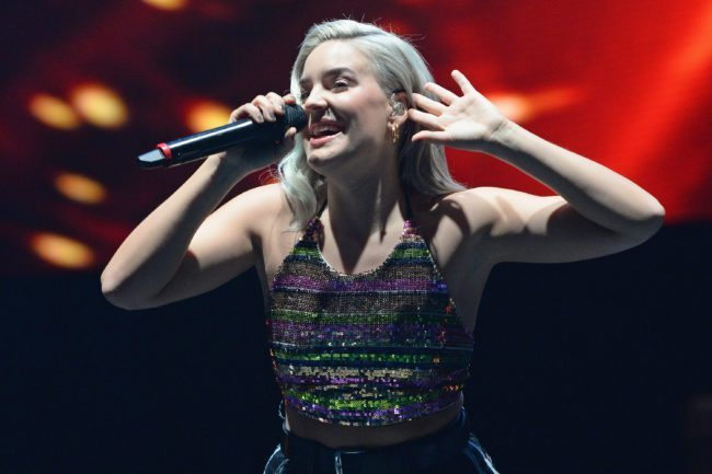 BIRMINGHAM, ENGLAND - NOVEMBER 11: Anne-Marie performs during Free Radio Live held at Genting Arena on November 11, 2017 in Birmingham, England. (Photo by Eamonn M. McCormack/Getty Images)