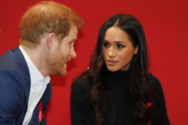NOTTINGHAM, ENGLAND - DECEMBER 01: Prince Harry and his fiancee US actress Meghan Markle visit the Terrence Higgins Trust World AIDS Day charity fair at Nottingham Contemporary on December 1, 2017 in Nottingham, England. Prince Harry and Meghan Markle announced their engagement on Monday 27th November 2017 and will marry at St George's Chapel, Windsor in May 2018. (Photo by Adrian Dennis - WPA Pool/Getty Images)
