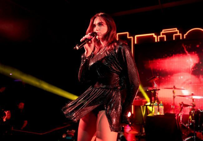 Dua Lipa performs onstage during Billboard and Mastercard present a night with Dua Lipa at Mastercard House on January 27, 2018 in New York City. (Christopher Polk/Getty)