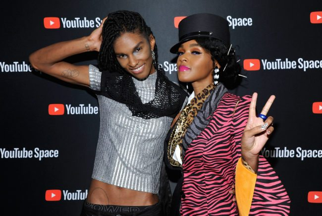 "LOS ANGELES, CA - APRIL 27: (L-R) Ari Fritz and Janelle Monae attends the special screening presented by YouTube of ""Dirty Computer: An Emotion Picture by Janelle Monae"" at YouTube Space LA on April 27, 2018 in Los Angeles, California. (Photo by John Sciulli/Getty Images for YouTube)"