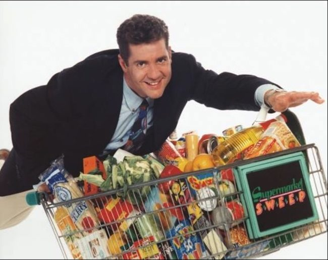 Dale Winton on Supermarket Sweep, who died in 2018