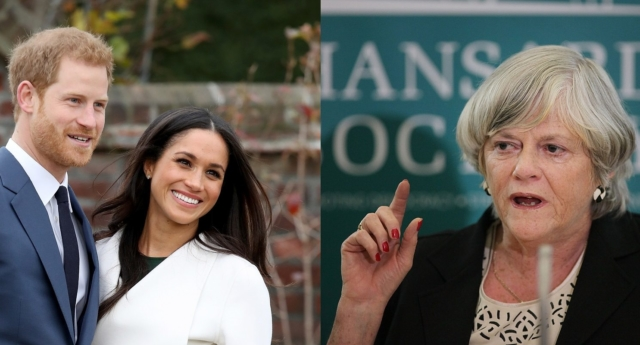Prince Harry and actress Meghan Markle, alongside former Tory MP Ann Widdecombe (Chris Jackson/Getty Images)