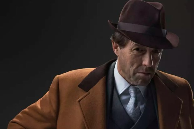 Hugh Grant as Jeremy Thorpe in A Very English Scandal.