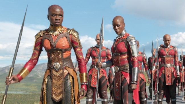 Okoye and Ayo in Black Panther