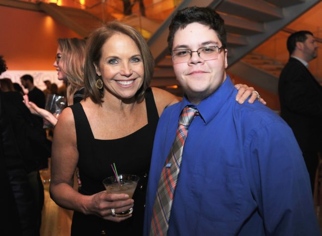 "NEW YORK, NY - FEBRUARY 02: Journalist Katie Couric (L) and Gavin Grimm attend as National Geographic hosts the world premiere screening of ""Gender Revolution: A Journey With Katie Couric"" on February 2, 2017 in New York City. (Photo by Brad Barket/Getty Images for National Geographic)"