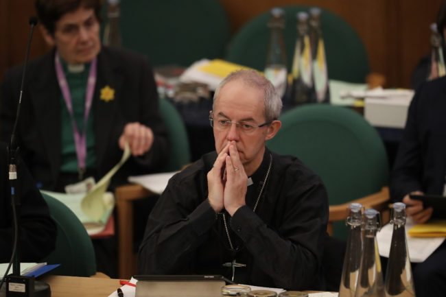 Church of England Archbishop of Canterbury Justin Welby