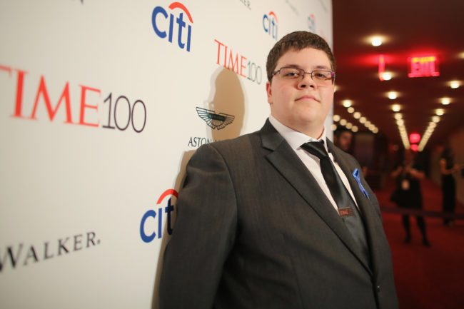 NEW YORK, NY - APRIL 25: Gavin Grimm attends the 2017 Time 100 Gala at Jazz at Lincoln Center on April 25, 2017 in New York City. (Photo by Jemal Countess/Getty Images for TIME)
