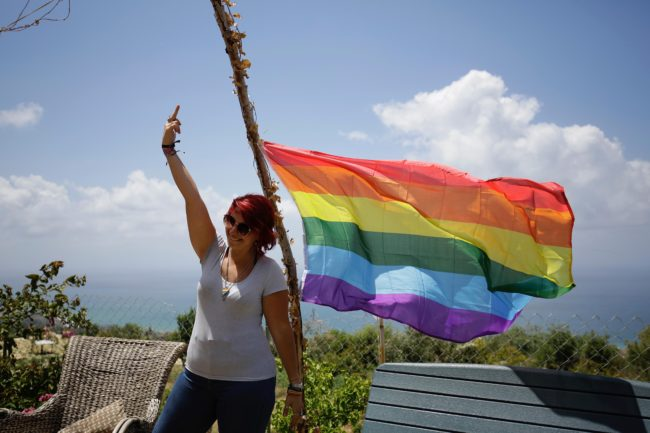 Members of Lebanon's LGBTQ community attend a picnic the coastal city of Batroun, north of Beirut, on May 21, 2017, as part of the Beirut Pride week aimed at raising awarness about the rights of the community. / AFP PHOTO / IBRAHIM CHALHOUB        (Photo credit should read IBRAHIM CHALHOUB/AFP/Getty Images)