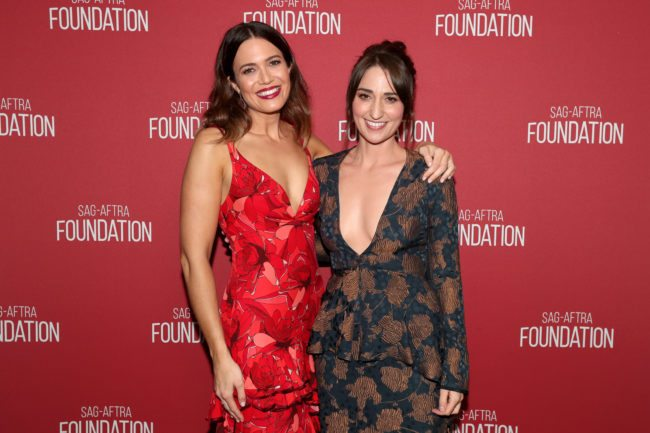 BEVERLY HILLS, CA - NOVEMBER 09: Mandy Moore (L) and Sara Bareilles attend the SAG-AFTRA Foundation Patron of the Artists Awards 2017 at the Wallis Annenberg Center for the Performing Arts on November 9, 2017 in Beverly Hills, California. (Photo by Christopher Polk/Getty Images for SAG-AFTRA Foundation )