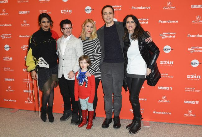Priyanka Chopra, Silas Howard, Claire Danes, Leo James, Jim Parsons and Amy Landecker attend the 'A Kid Like Jake' Premiere during the 2018 Sundance Film Festival at Eccles Center Theatre on January 23, 2018 in Park City, Utah. / AFP PHOTO / ANGELA WEISS (Photo credit should read ANGELA WEISS/AFP/Getty Images)