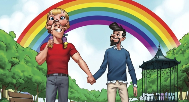 A Drawing Of A Gay Family From A Childrens Book Photo By Str Afp