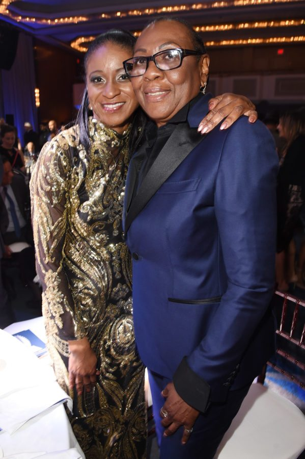NEW YORK, NY - MAY 05: Gloria Carter (R) attends the 29th Annual GLAAD Media Awards at The Hilton Midtown on May 5, 2018 in New York City.  (Photo by J. Merritt/Getty Images for GLAAD)