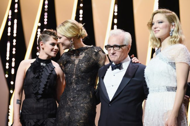 CANNES, FRANCE - MAY 08:  (L-R) Jury member Kristen Stewart, jury president Cate Blanchett, director Martin Scorsese and jury member, Lea Seydoux appear onstage at the opening ceremony during the 71st annual Cannes Film Festival at Palais des Festivals on May 8, 2018 in Cannes, France.  (Photo by Pascal Le Segretain/Getty Images)