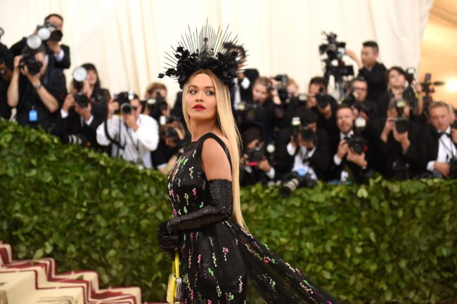 NEW YORK, NY - MAY 07: Recording artist Rita Ora attends the Heavenly Bodies: Fashion & The Catholic Imagination Costume Institute Gala at The Metropolitan Museum of Art on May 7, 2018 in New York City. (Photo by Jason Kempin/Getty Images)