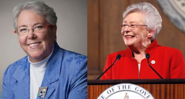 Patricia Todd and Governor Kay Ivey