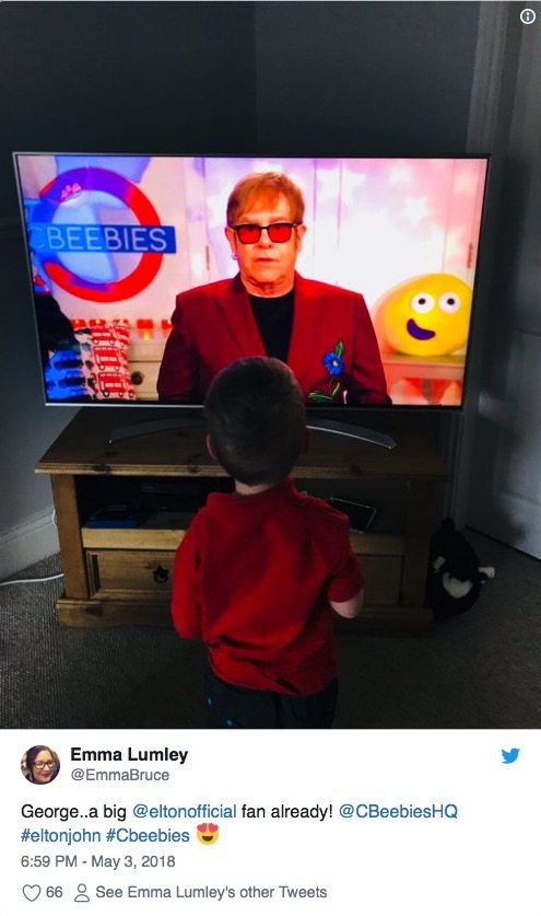 Elton John Delights Fans With Cbeebies Bedtime Story