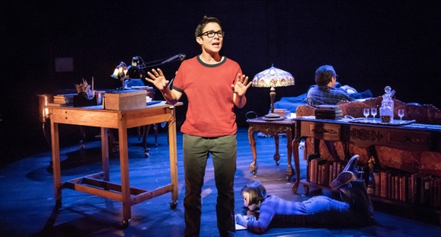 Kaisa Hammarlund and Brooke Haynes in Fun  Home (Young Vic / Marc Brenner)