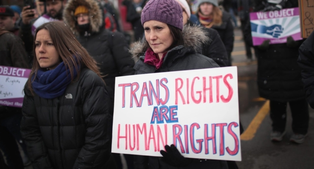 Legal recognition is part of the fight for trans rights (Photo by Scott Olson/Getty Images)
