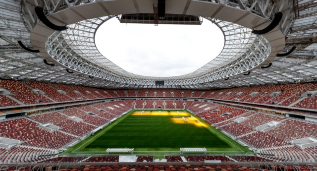 A general view of the Luzhniki stadium on August 29, 2017 in Moscow, Russia.  (Lars Baron/Getty)