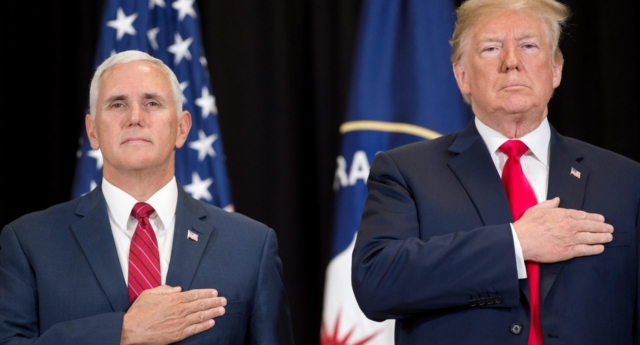 US President Donald Trump and US Vice President Mike Pence (SAUL LOEB/AFP/Getty)