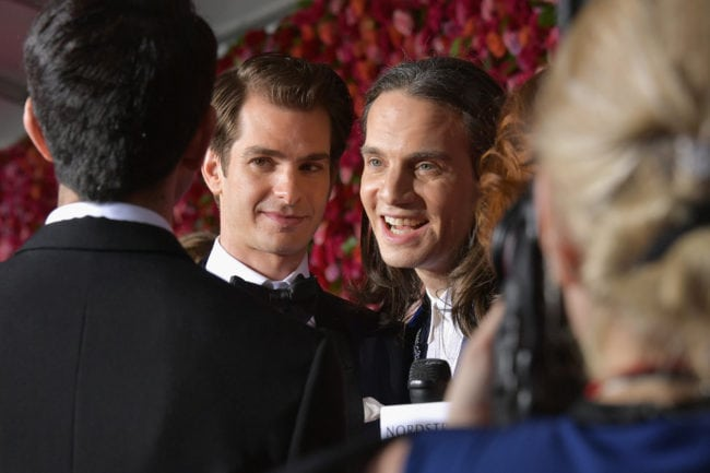 NEW YORK, NY - JUNE 10: Andrew Garfield and Jordan Roth attend the 72nd Annual Tony Awards at Radio City Music Hall on June 10, 2018 in New York City. (Photo by Dia Dipasupil/Getty Images for Tony Awards Productions)