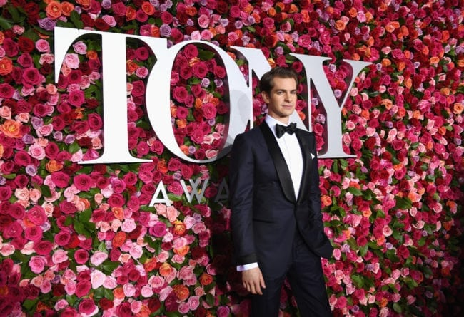 NEW YORK, NY - JUNE 10: Andrew Garfield attends the 72nd Annual Tony Awards at Radio City Music Hall on June 10, 2018 in New York City. (Photo by Larry Busacca/Getty Images for Tony Awards Productions)