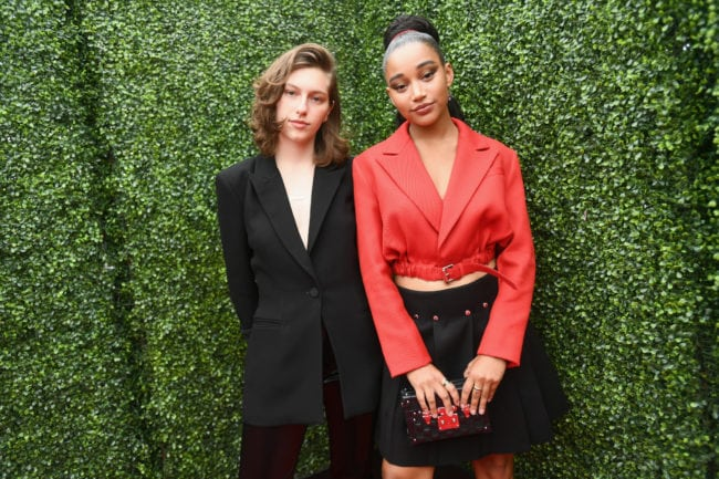 SANTA MONICA, CA - JUNE 16:  Recording artist King Princess (L) and actor Amandla Stenberg attend the 2018 MTV Movie And TV Awards at Barker Hangar on June 16, 2018 in Santa Monica, California.  (Photo by Emma McIntyre/Getty Images for MTV)