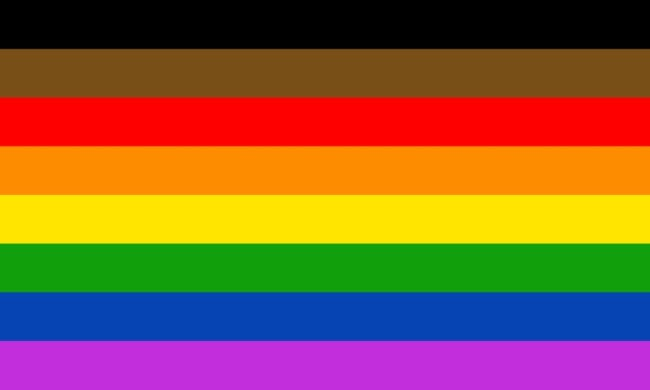 Pride flag for people of colour