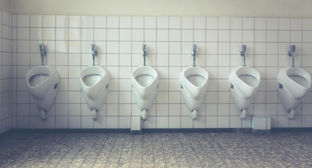 Urinals in a toilet (Creative Commons photo/Markus Spiske)