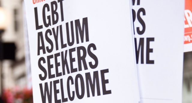 A poster campaign welcoming LGBT asylum seekers