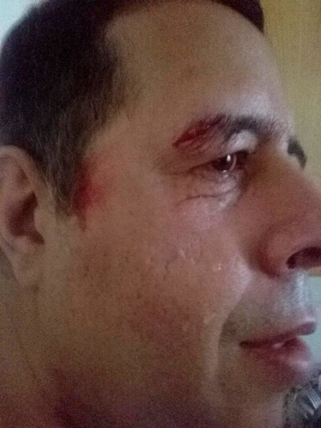 Gustavo, who has learning difficulties, was left in tears after the attack (Gustavo and Andrew Williams-Coleman)