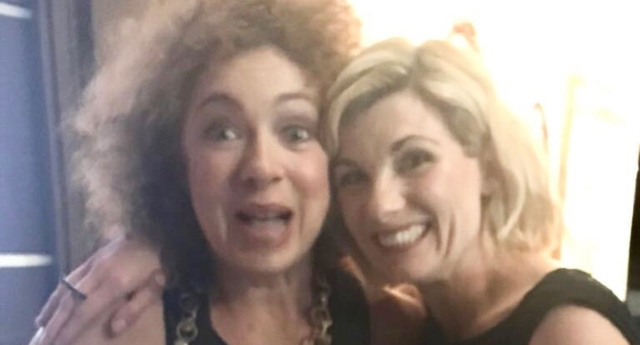 Alex Kingston and Jodie Whittaker