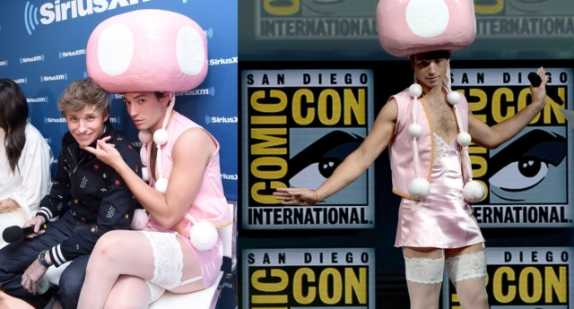 Fantastic Beasts star Ezra Miller turned up to Comic-Con as sexy Toadette